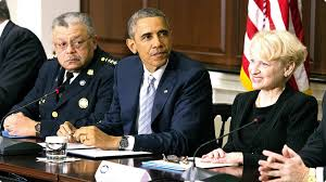 Comm. Ramsey, Pres. Obama, and Prof. Laurie Robinson
