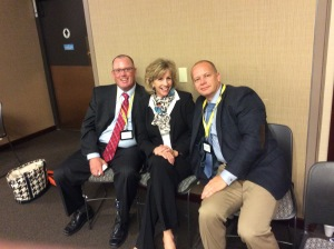 Three of our presenters, Capt Jim Mallery from Kalamazoo, Director Sue Rahr, Police Training Divsioin, State of Washington, and Capt Chip Huth,Kansas City PD. Our other presenters were Rev. Everett MItchell, and David Couper. Prof. Herman Goldstein made some reflections and introduced Sue Rahr.