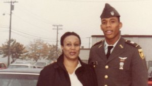 Alston as a young Army officer with his mother.